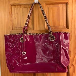 "Brighton ""Austin"" patent leather XL tote in Berry"